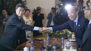 North and South Korea officials meet to discuss reunion meetings for divided families